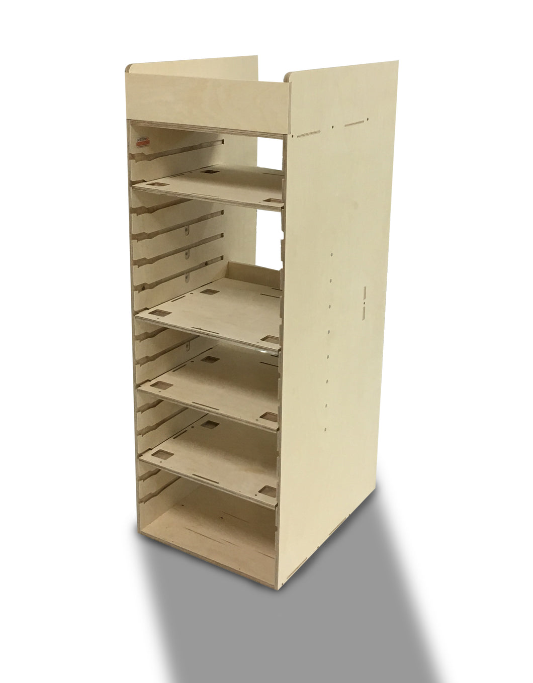Van racking to suit Festool< sustainers, tanos storage boxes, box racking, unique system manufactured from birch ply.