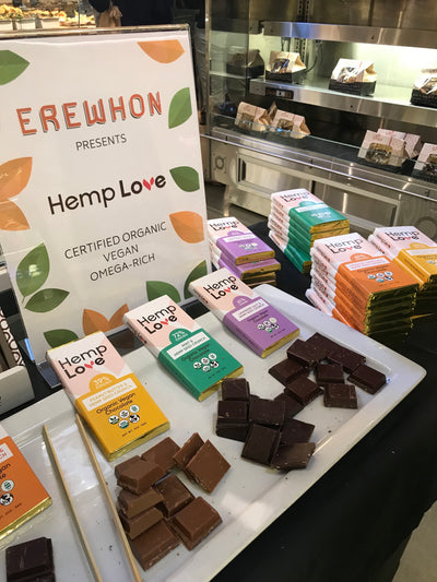 HEMP LOVE® Organic & Vegan Chocolate Bars are now available at EREWHON Markets.