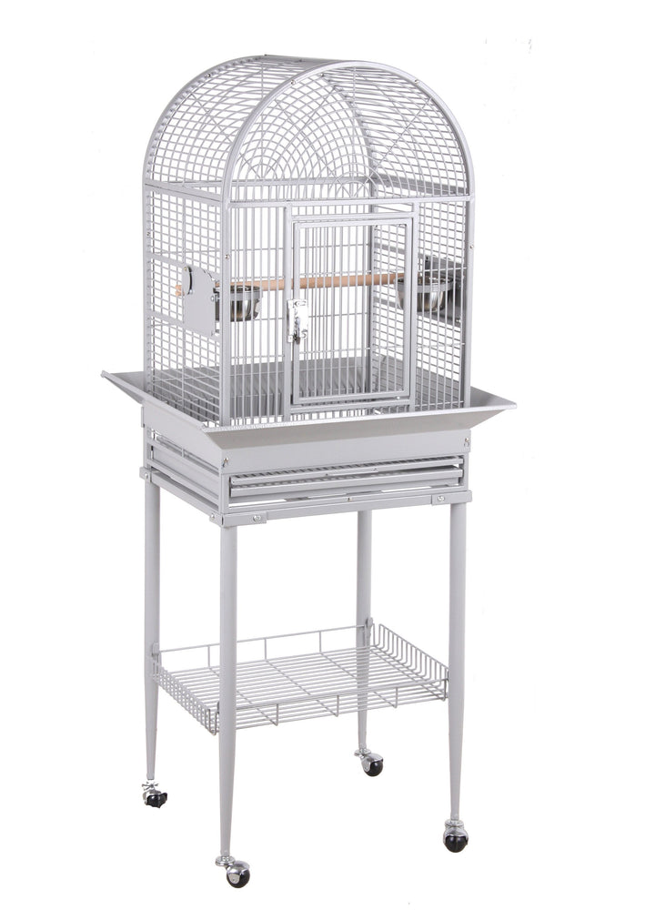 HQ 18x16 Dome Top Bird Cage - Platinum White