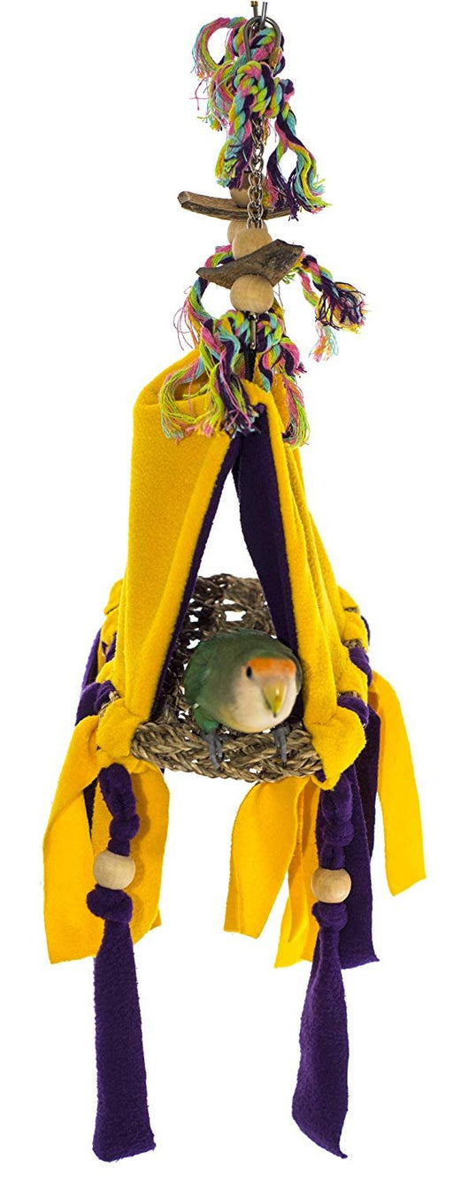 "Birds LOVE Safe Bird Hut with Open Base for Small Birds Lovebirds Cockatiels Parakeets Finch – Small Size - 7.5"" l x 5"" w x 5.5"" h"