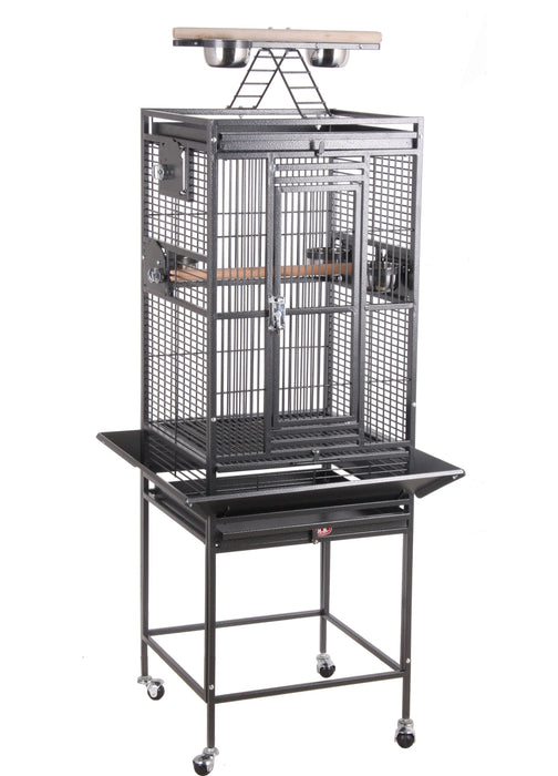 HQ 18x18 Play Top Bird Cage - Platinum White