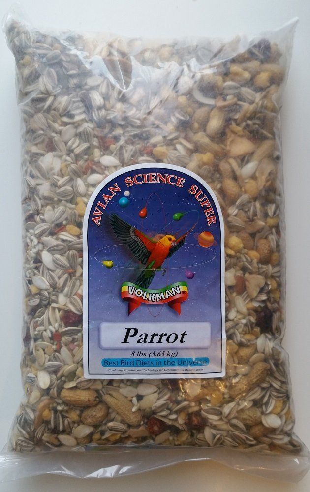 Volkman Avian Science Super Parrot Bird Food Seed Mix