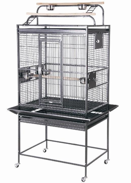 HQ 32x23x64 Double Play Top Bird Cage - Black