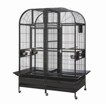 HQ Huge 64x32 Bird Cage with Divider - Platinum White