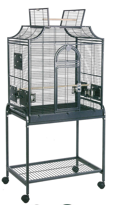 HQ 28x18 Bird Cage Open Crown Style Top - Black