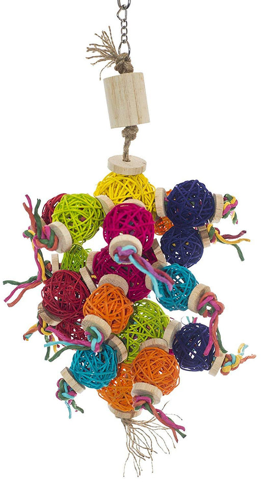 "Birds LOVE Bird Foraging and Chew Toy Vine Balls for Large Birds Macaws Cockatoos - LG - 20"" long x 8"" wide"
