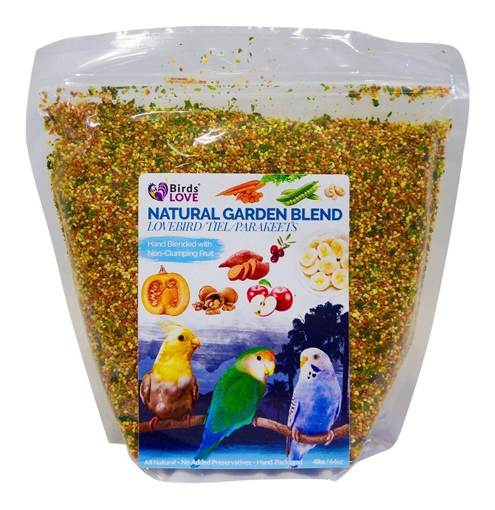 Birds LOVE All Natural Garden Blend Bird Food for Parrots -  2lb – Macaw, Cockatoo Lg Bird