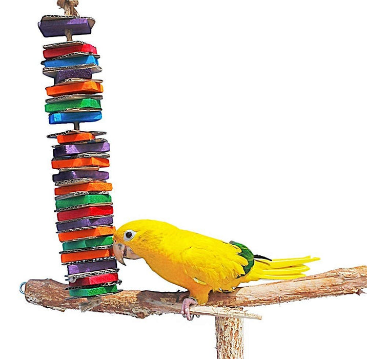 Birds LOVE Chew-Tastic Tower for Small and Medium Birds - Single Tower - Small
