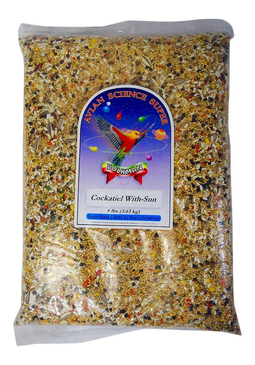 Volkman Seed Avian Science Super Cockatiel With Sunflower 8lb