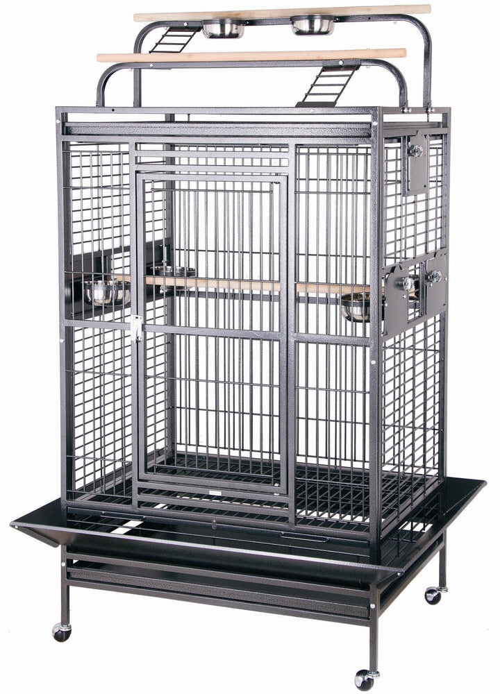 HQ 36x28x66 Double Play Top Bird Cage - Black
