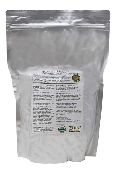 TOP's Outstanding Small Pellets for Small Hookbills -3lb