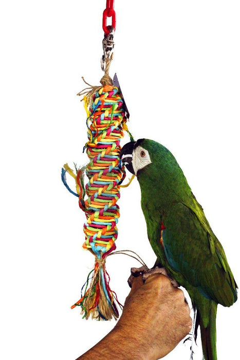 "Birds LOVE Twisted Paper Tornado Bird Toy for Medium Birds: Amazons, Eclectus, Mini Macaws, Sun Conures – 3-PACK – 13"" L x 2"" W"
