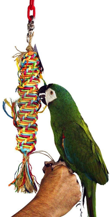 Birds LOVE Single Medium Twisted Paper Tornado Bird Toy for Amazons, Eclectus, Mini Macaws, Sun Conures, Cockatoos, African Greys and Similar Sized Medium Birds - Single Item