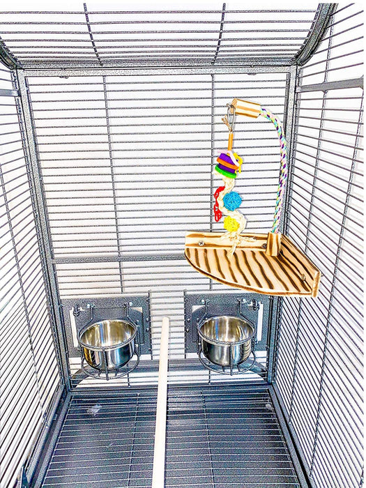 Birds LOVE Play Gym Wooden Parrot Playstand Cage Corner Toy Small Medium Perch
