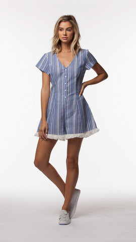 JULIAN WOVEN ROMPER - People's Project LA