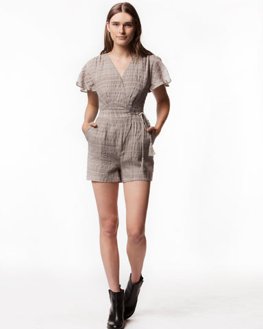 PALMER WOVEN ROMPER - People's Project LA