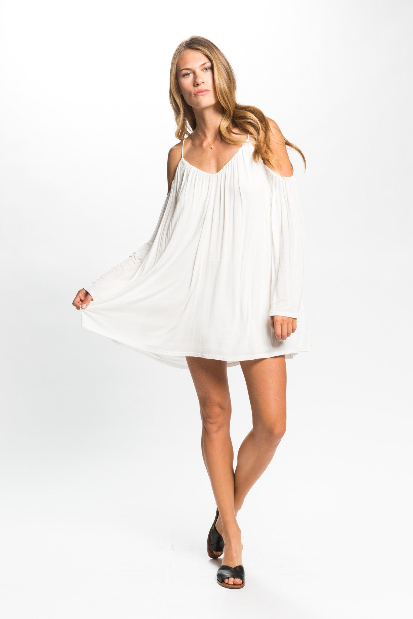 SENORITA COLD SHOULDER DRESS