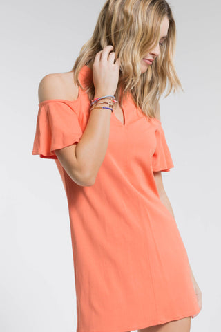 ARIA COLD SHOULDER DRESS