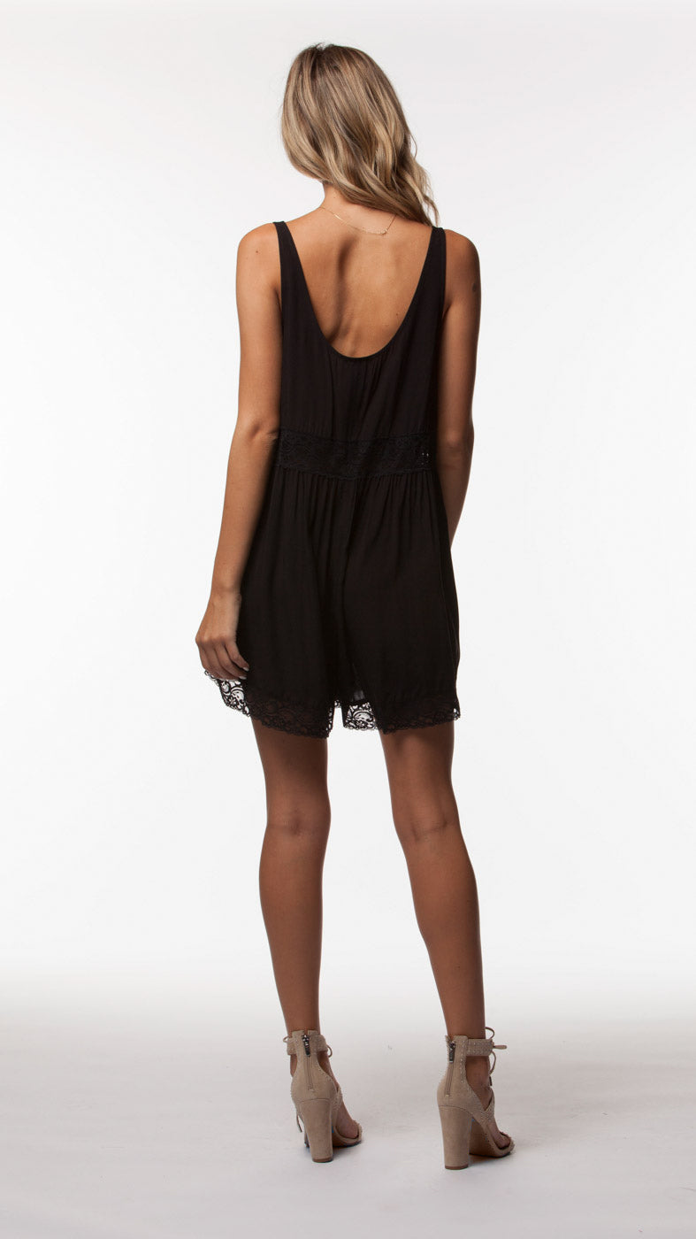 PEMBROKE WOVEN ROMPER - People's Project LA