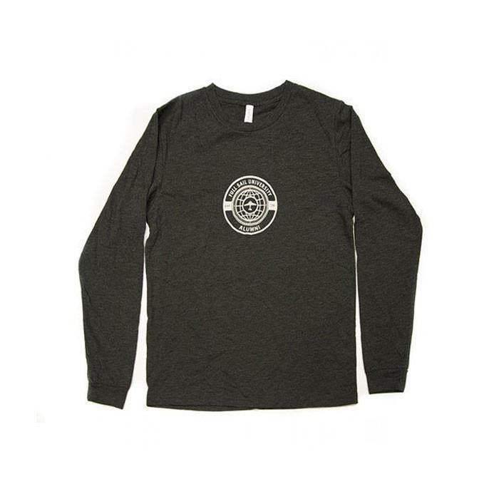 Alumni L/S World Tee - Charcoal