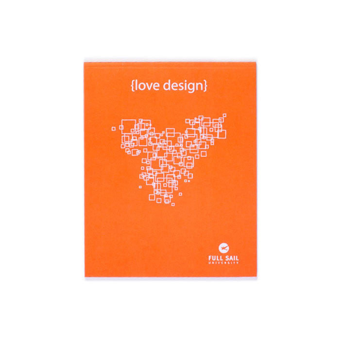 Love Design Notebook - Orange