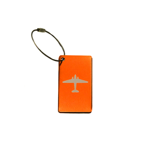 Aluminum Bag Tags - Orange