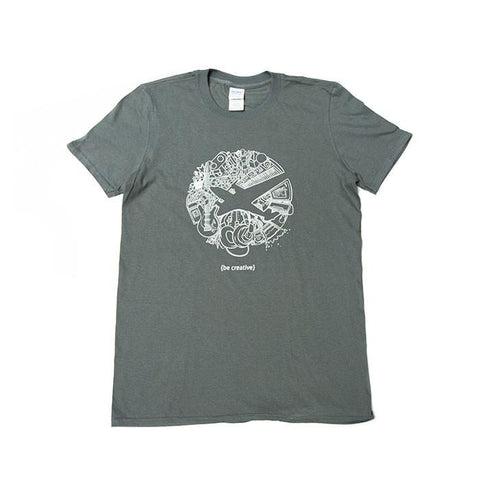 Be Creative Tee – Gray