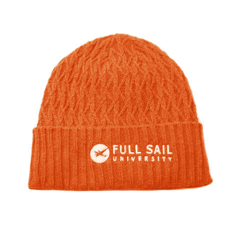 Knit Hat - Orange