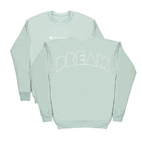 Drop Shoulder Crewneck - Dusty Blue