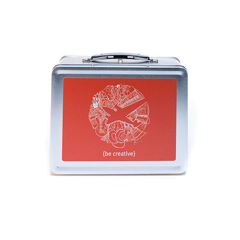 Metal Lunch Box - Orange