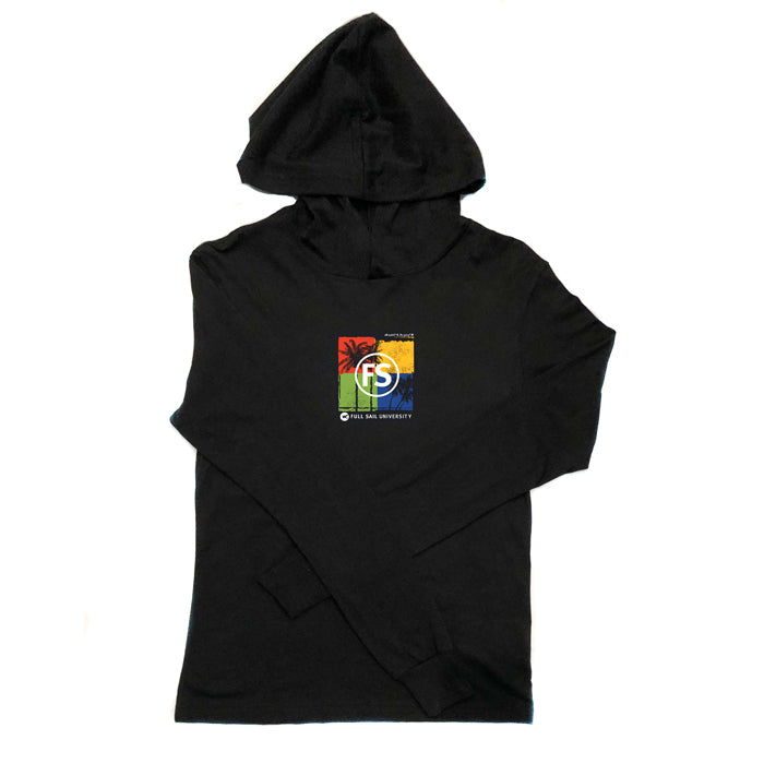 Palm Tree P/O Lightweight Hoodie - Black