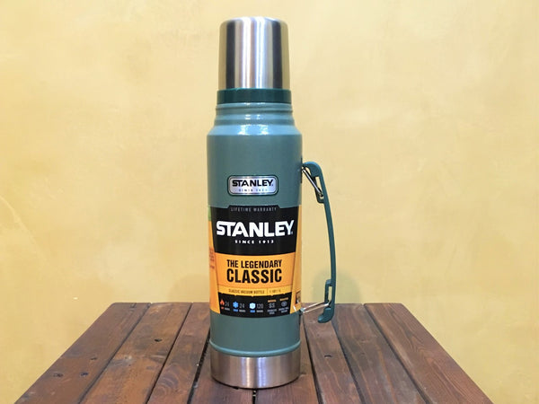 10-01254-033 Stanley Classic Vacuum Bottle 1.1 Qt Hammertone Green - Stars and Stripes