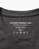 MAT-PKCR02 Richer Poorer Crew Pocket Tee Charcoal - Stars and Stripes