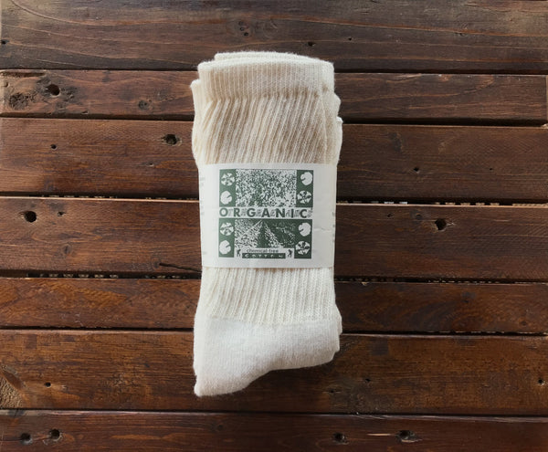 C100 Organic Threads Regular Crew 3pack Organic Socks Cream - Stars and Stripes