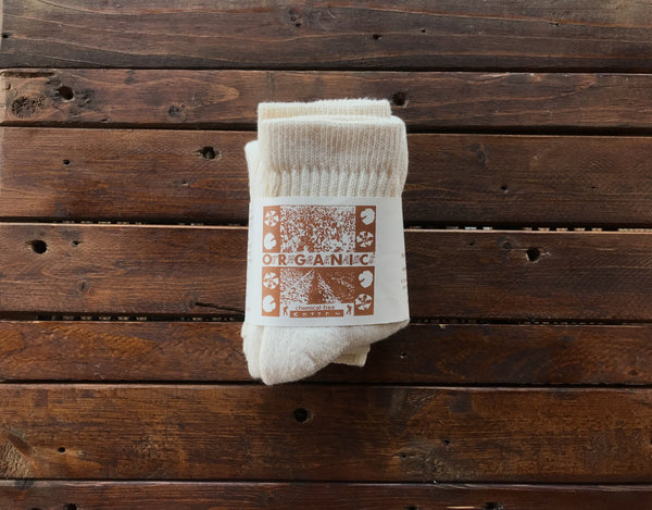 C125 Organic Threads Short Top 3pack Organic Socks Cream - Stars and Stripes