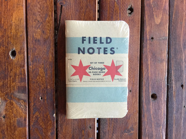 FN-28 Field Notes Chicago 3-Pack - Stars and Stripes