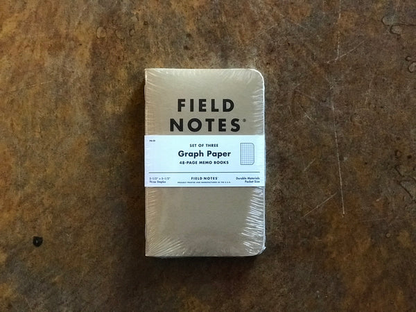 FN-01 Field Notes Original Kraft Graph Paper 3-Pack - Stars and Stripes