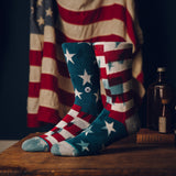 M311B14BAN Stance Banner Socks Navy - Stars and Stripes