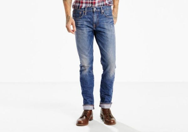 045111892 Levi's Premium 511 Slim Fit Selvedge Jeans Psyche - Stars and Stripes