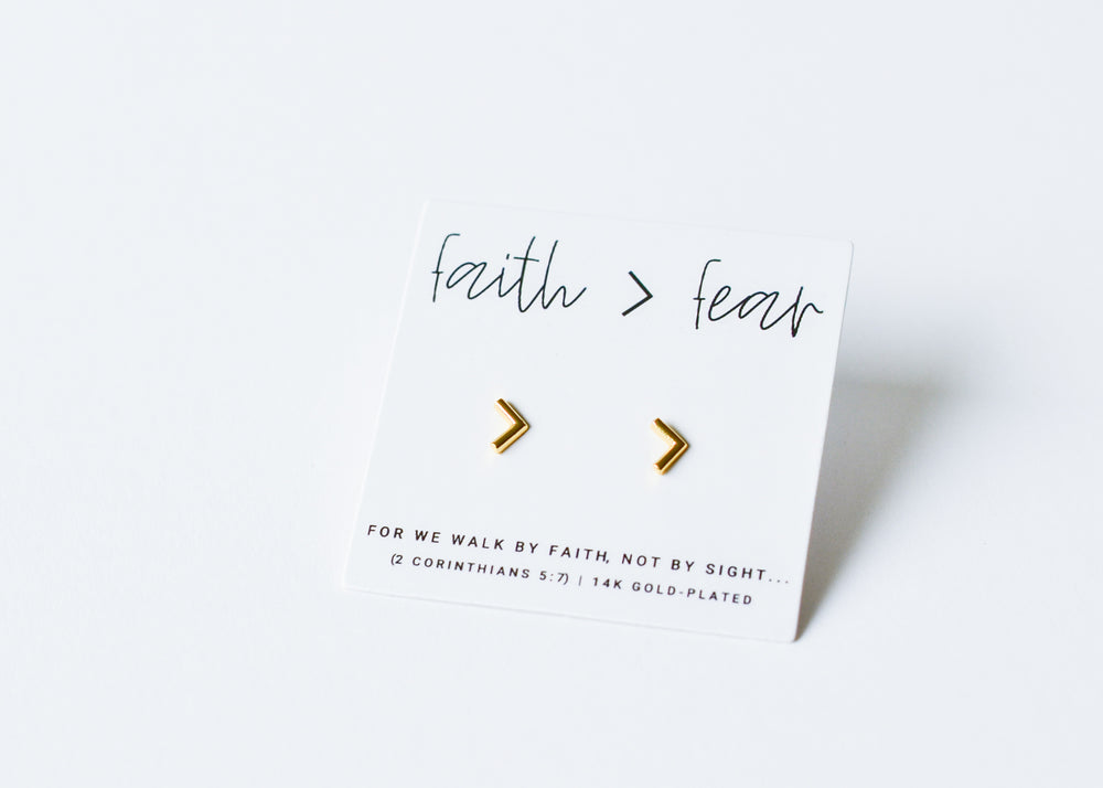 Faith > Fear | Earrings
