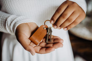 Surrendered Key Ring | Genuine Leather