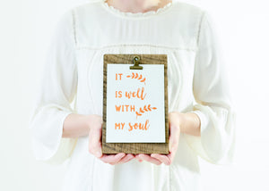 NEW! It Is Well With My Soul | Copper Foil Art Print