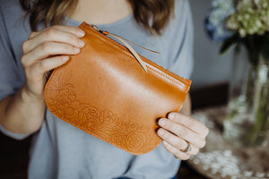 Mercy Floral Pouch | Vegan Leather