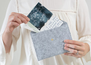 Felt Envelope Clutch | Scripture Card Holder