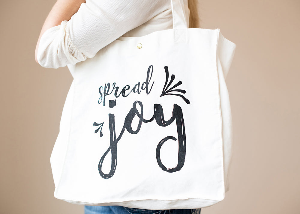 Canvas Tote Bag | Spread Joy