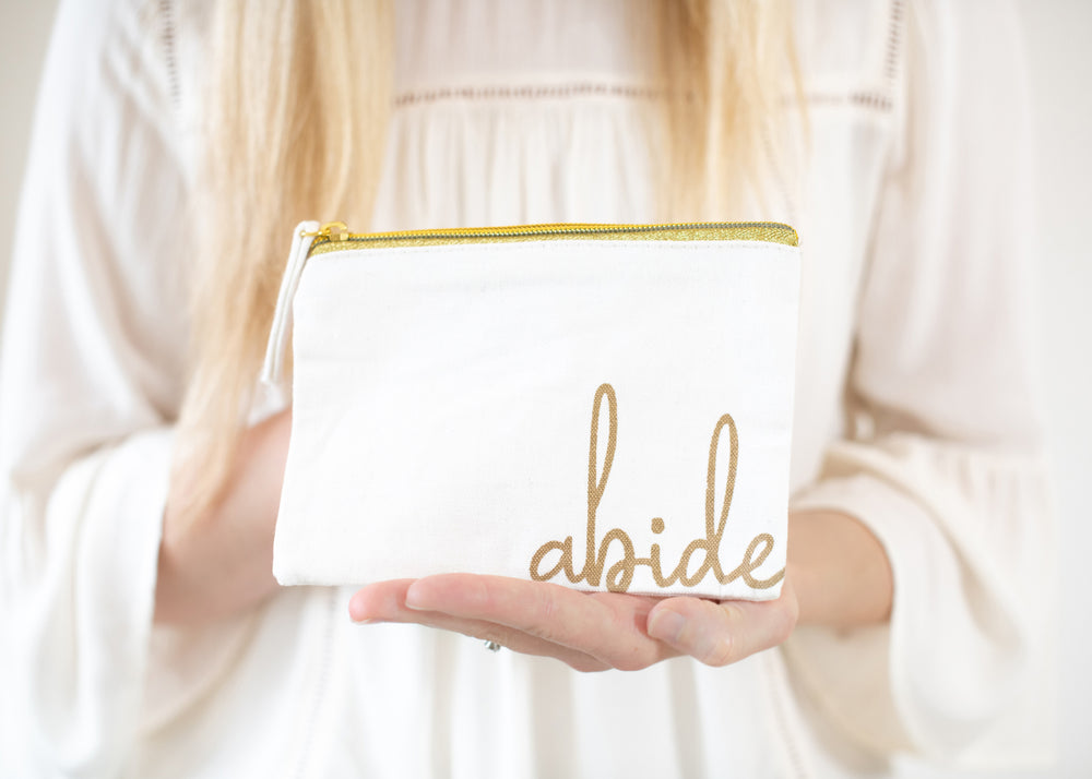 Abide Pouch | Scripture Card Holder
