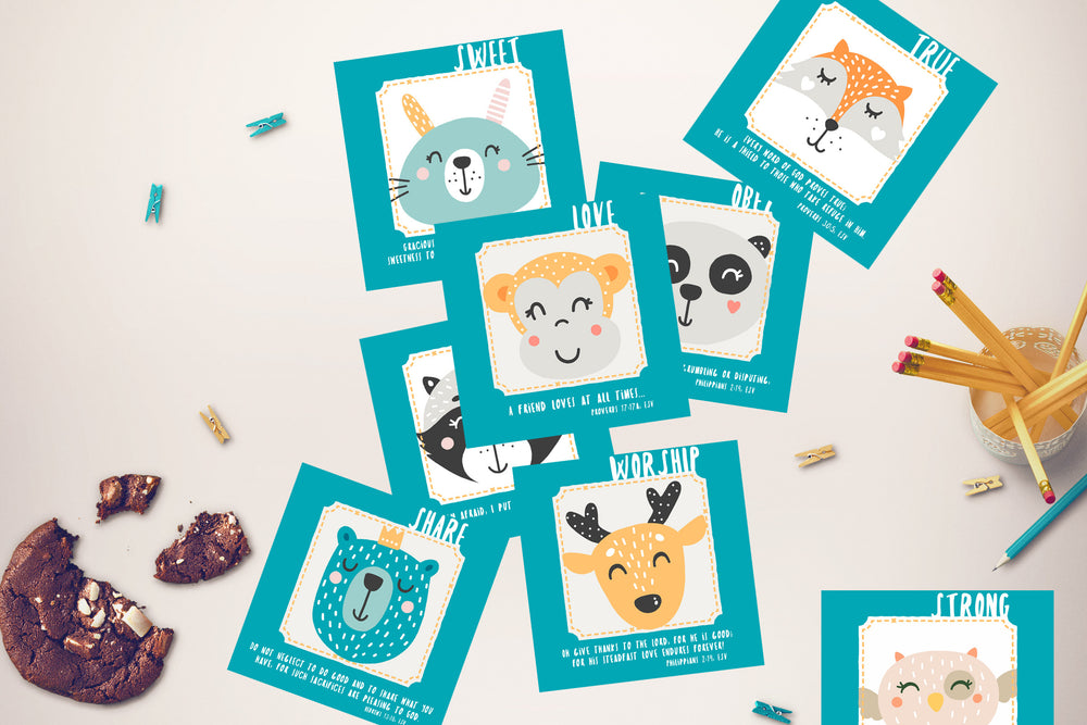 Bible Verse Cards for Kids | Set of 8 Printables