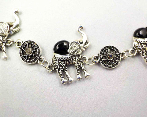 Black Ethnic Elephant Bracelet