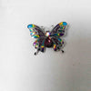 Rainbow-Colored Butterfly Brooch