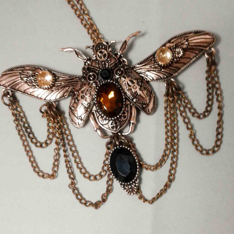 Copper-Plate SteamPunk ButterFly Pendant